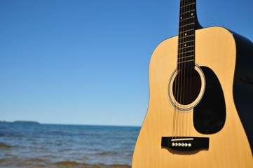 Guitar Facing The Beach