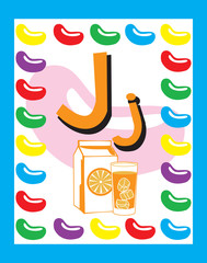 Flash Card Letter J nouns. See whole alphabet in my series!