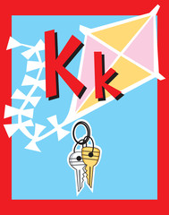 Flash Card Letter K nouns. See whole alphabet in my series!