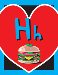 Flash Card Letter H nouns. See whole alphabet in my series!
