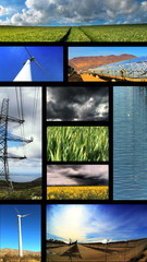 Vertical Montage Of Renewable Energy production
