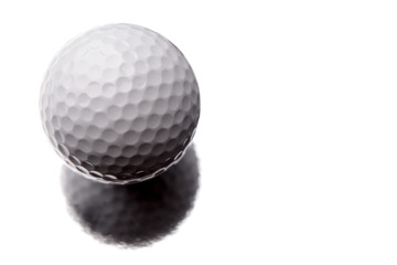 Golf ball isolated over white