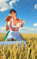 biergarten oktoberfest im freien
