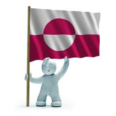 Grönland Flagge Flag of Greenland staunen