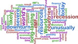 Recession wordcloud poster