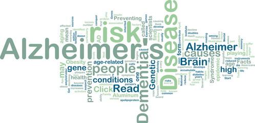 Alzheimer's disease wordcloud