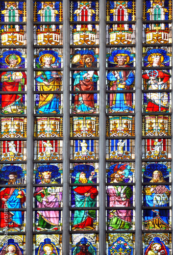 Stained glass at Antwerp church
