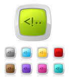 Vector glossy button set in various color - html code script poster