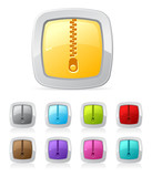 Vector glossy button set in various color - archive poster