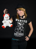 emo teen girl with teddy bear poster