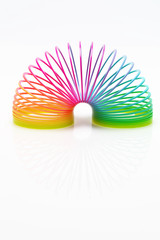 Isolated colourful slinky