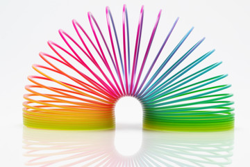 Isolated colourful slinky 2