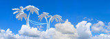 big panorama. landscape blue sky and palms - 15323903