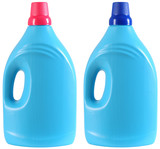 Two cleaning products. Clipping path