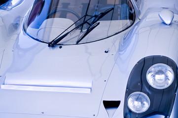 Silver super car