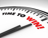 Fototapety Time to Win - Clock