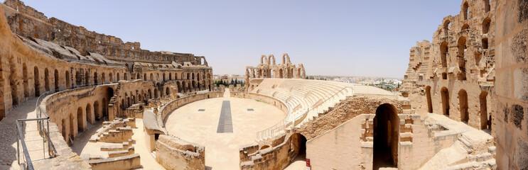 Ancient Roman Amphitheatre in El-Jem, Tunisia