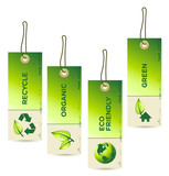Fototapety Vector GREEN Tag Labels