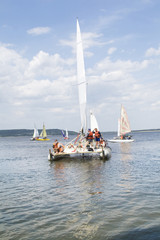 Racing sailboat