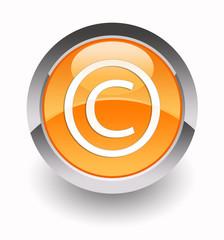 Copyright glossy icon