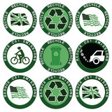 Recycle and Reduce Carbon Emissions Collection poster