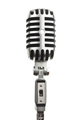 microphone metal on white background