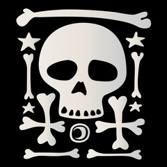 character of death on a black background