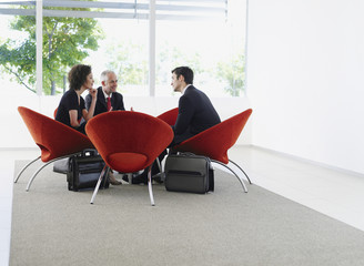 Group of office workers in a meeting