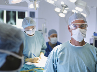 Man in scrubs in operating room