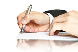 business. hand with pen