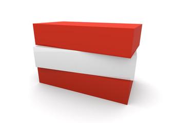 Austria Flag Blocks