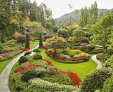 Fototapety The Sunken-garden on island Vancouver