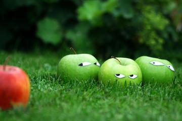rassistische Äpfel