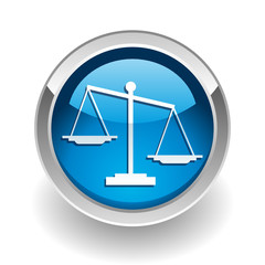 Justice and law button
