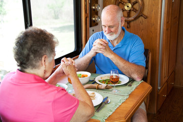 Senior Couple - Mealtime Prayer