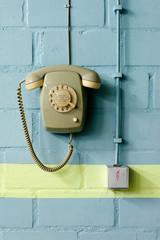 Notfalltelefon mit Wählscheibe