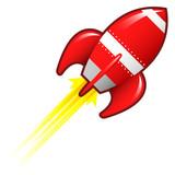 Retro rocket ship illustration