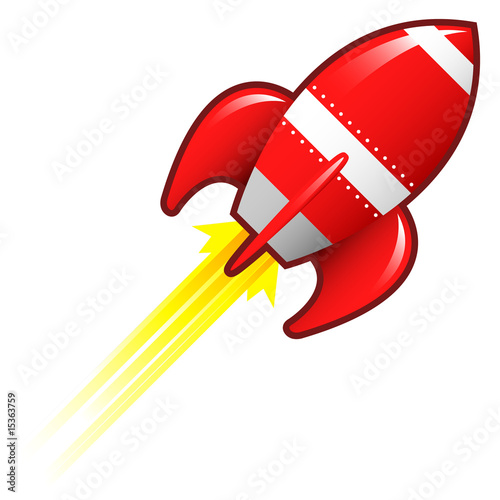 Retro rocket ship illustration
