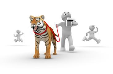 humour - animal domestique - tigre