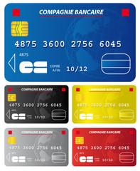 Lot de cartes bancaires vectorielles