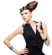 Fashionable caucasian woman