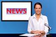 Female newsreader presenting the news