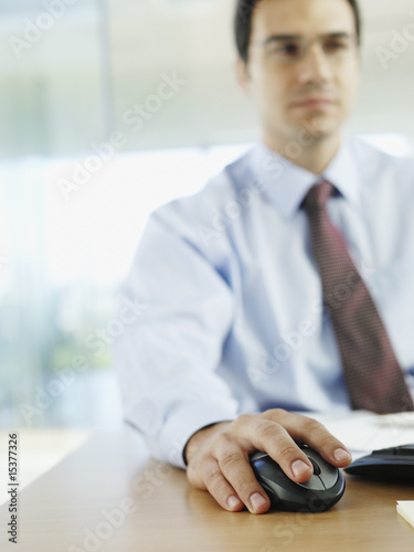 Man in office working on personal computer