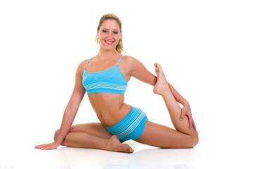 Fitness yoga exercise