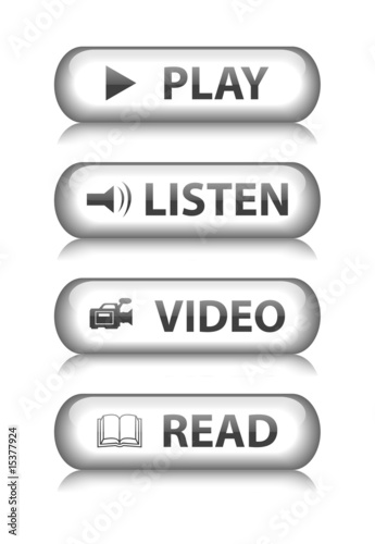 poster of MEDIA Web Buttons (read video listen play watch player website)