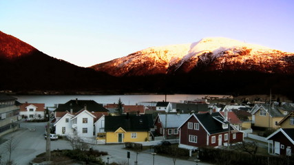 Time-Lapse Sunset In Norway