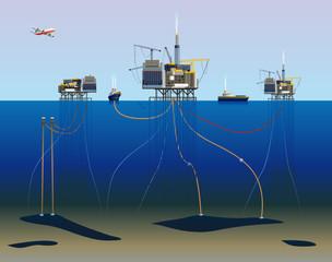 Gisments de pétrole sous-marin