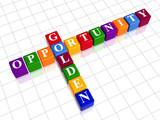 golden opportunity like color crossword poster