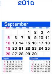 September 2010 - Wall Calendar