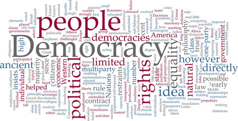 Democracy word cloud